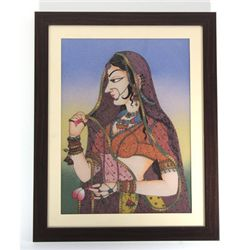 "24 1/2"" x 30 1/2"" Beautiful Indian Princess Painting"
