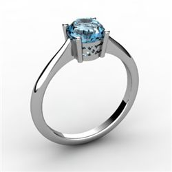 Topaz 1.00 ctw Ring 14kt White Gold
