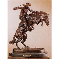 "Bronco Buster"" Bronze Sculpture by Frederick Remington, 14""x11"""