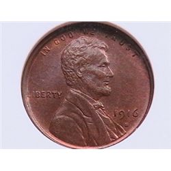 1916-S BU Lincoln Cent MS-65 NGC