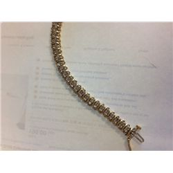 2 CT Diamond 2 Row 14K Gold Tennis Bracelet