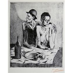 PABLO PICASSO  Signed Print 1966