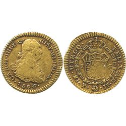 Popayan, Colombia, bust 1 escudo, Charles IV, 1806JF.
