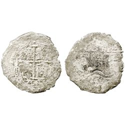 Potosi, Bolivia, cob 8 reales, 1658E.
