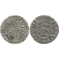 Mexico City, Mexico, pillar 8 reales, Philip V, 1732F, very rare first date of series.
