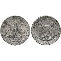 Mexico City, Mexico, pillar 8 reales, Philip V, 1734MF.