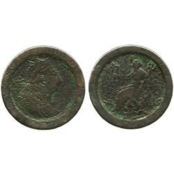 "Great Britain, copper ""cartwheel"" penny, George III, (1797)."