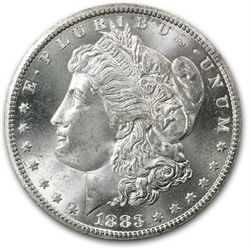 1883 UNC Morgan Silver Dollar