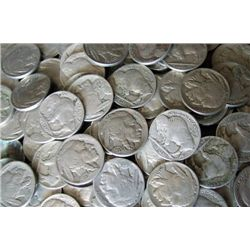 Lot of 100 Buffalo / Indian Head Nickels - RD