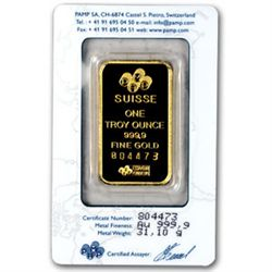 1 oz. Pamp / Credit Suisse Gold Bullion -