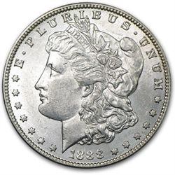 1888 Unc Morgan Silver dollar
