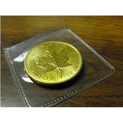 1 oz. Gold - Maple Leaf - Random Year .9999 Pure