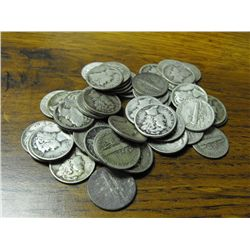 50 Mercury Dimes from Photo