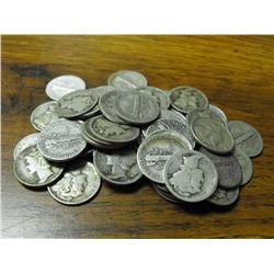 Lot of (50) Mercury Dimes from Photo
