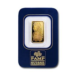 $2.5 Gram Pamp Suisse Gold Ingot 999.9