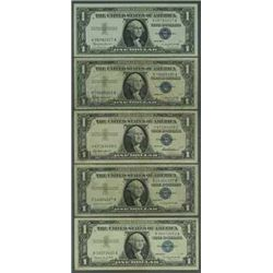 Lot of 5 Silver Certificates - Circulated