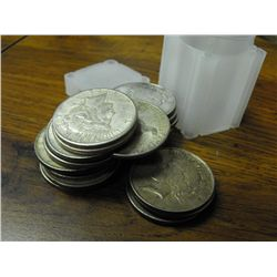 Lot of (20) Peace Silver Dollars - ag-vg