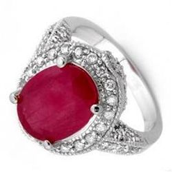 6.0 ctw Ruby & Diamond Ring 14K White Gold