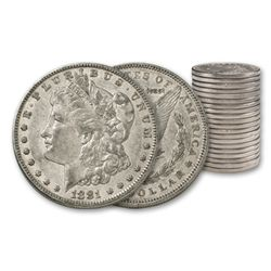 (20) Morgan Silver Dollars- AG XF