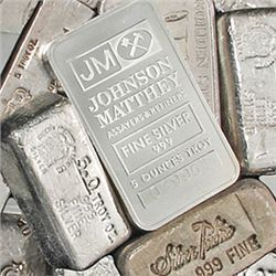 (1) Random Maker 5 oz. Silver Bar from Photo