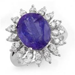 7.38ctw Tanzanite & Diamond Ring 14K