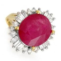 9.68 ctw Ruby & Diamond Ring 14K