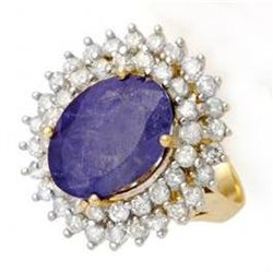 8.78 ctw Tanzanite & Diamond Ring 14K