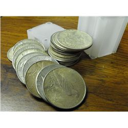 (20) Assorted Peace Dollars