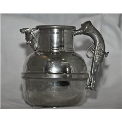 Pewter england pistol handled pitcher