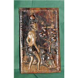 Hammered copper decorative plaque