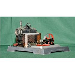 German made tin toy steam engine