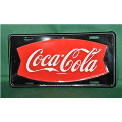 Cocacola license plate