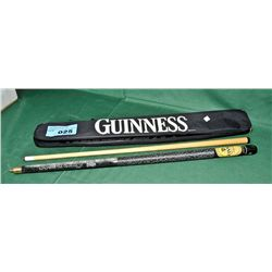 2pc guinness pool cue with case