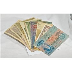Lot of vintage world bank notes