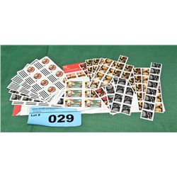 Lot of canada post postage stamps
