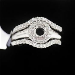 8.35g 14k White Gold Diamond Ring