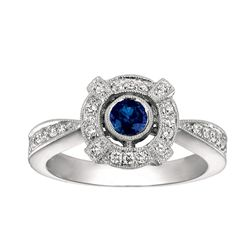 NATURAL 0.30 CTW SAPPHIRE RING 14K GOLD