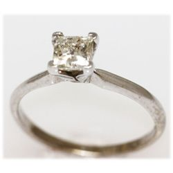 0.72CTW 14K GOLD DIAMOND RING PRINCESS H-I/SI2/I1
