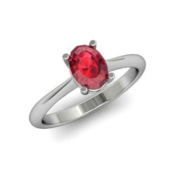 Genuine 3.15 ctw Ruby Ring 14k W/Y Gold