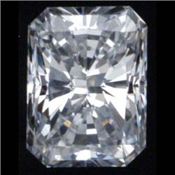 Diamond GIA Certified Rect. Mod Brilliant 0.52 ct D,VS1