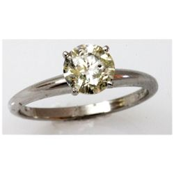 Diamond 1.13 ctw Solitaire 14k White Gold