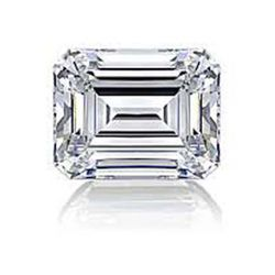 DIAMOND EGL CERTIFIED Emerald 1.52 CTW F, SI2