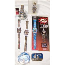 Multipiece Star Wars Collectibles.