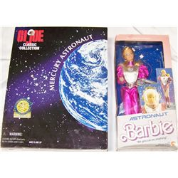 Astronaut BARBIE and G.I. Joe Figurines.