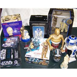 Ten Star Wars C3PO and R2D2 Collectibles.