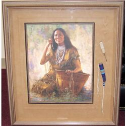 """Isdzan-Apache Woman"" by Howard Terpning."