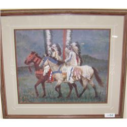 """Prairie Knights"" by Howard Terpning."