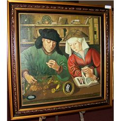 DUTCH MASTER TRIBUTE PAINTING ON CANVAS, CUSTOM FRAMED