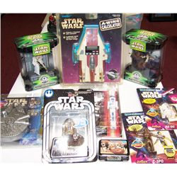 Nine Star Wars Collectibles.