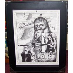 Star Wars 1978 Framed Lithograph.